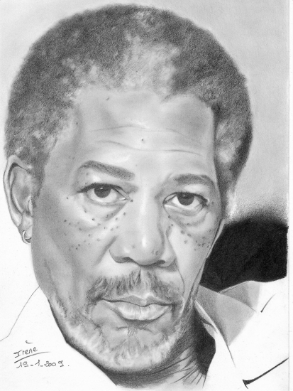 Morgan Freeman by peggy